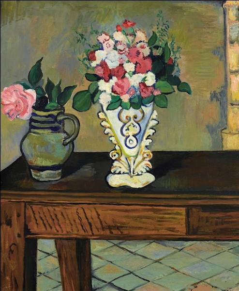 """Qui a représenté """"Deux bouquets de fleurs sur une table"""" ?"""