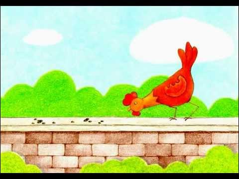 """Que picore """"Une poule sur un mur"""" dans la chanson pour enfants ?"""