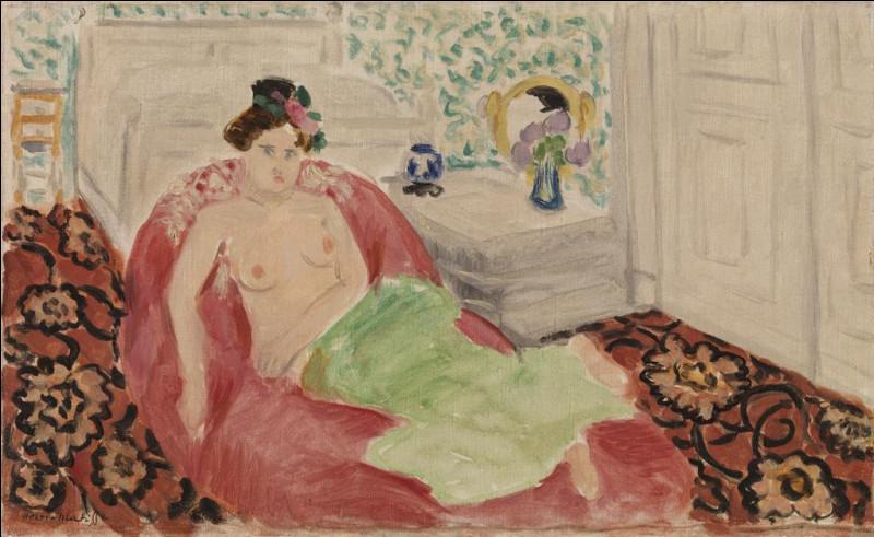 Qui a peint cette femme sur un sofa rouge ?