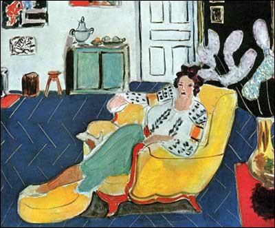 """Qui a réalisé la toile """"Jeune fille sur un sofa jaune"""" ?"""