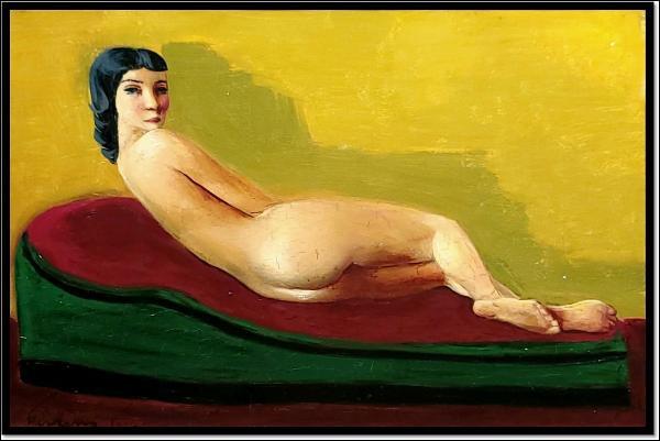 """Qui a peint """"Petit nu sur un sofa"""" ?"""