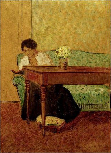 Qui a fait le portrait d'Elisabeth sur un sofa vert ?