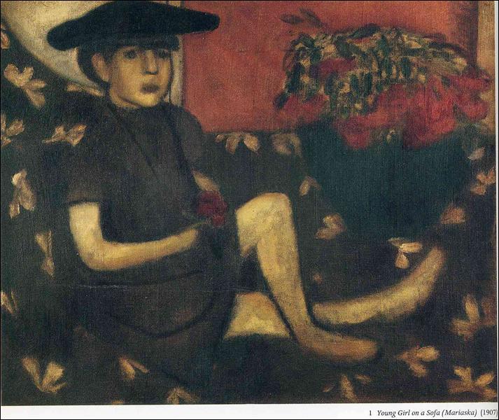 "Qui a peint ""Jeune fille sur un sofa (Mariaska) ?"