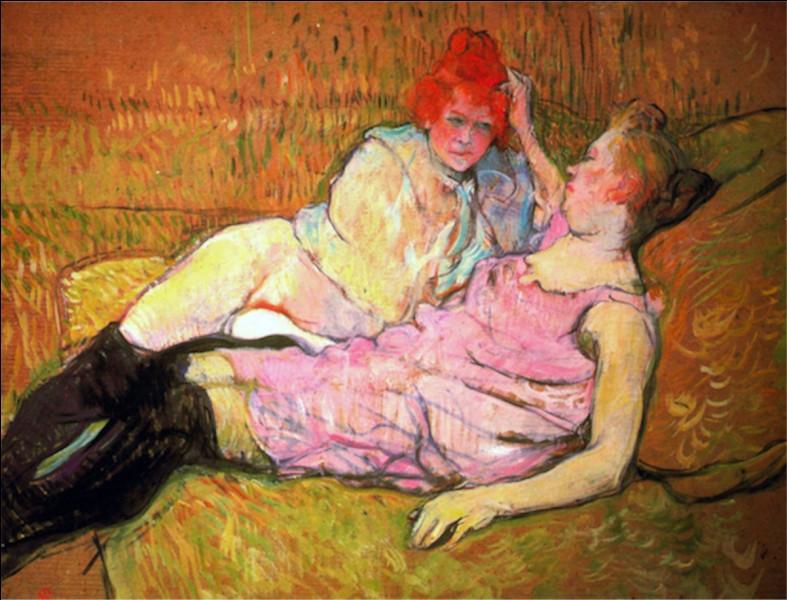 """À qui doit-on la toile intitulée """"Le Sofa"""" ?"""