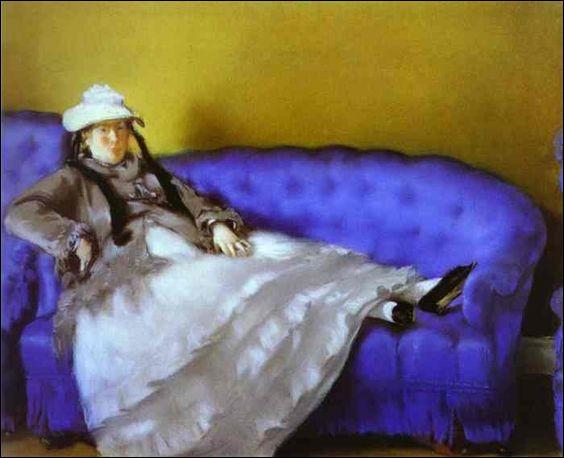 """Qui a peint """"Madame Manet sur le sofa bleu"""" ?"""