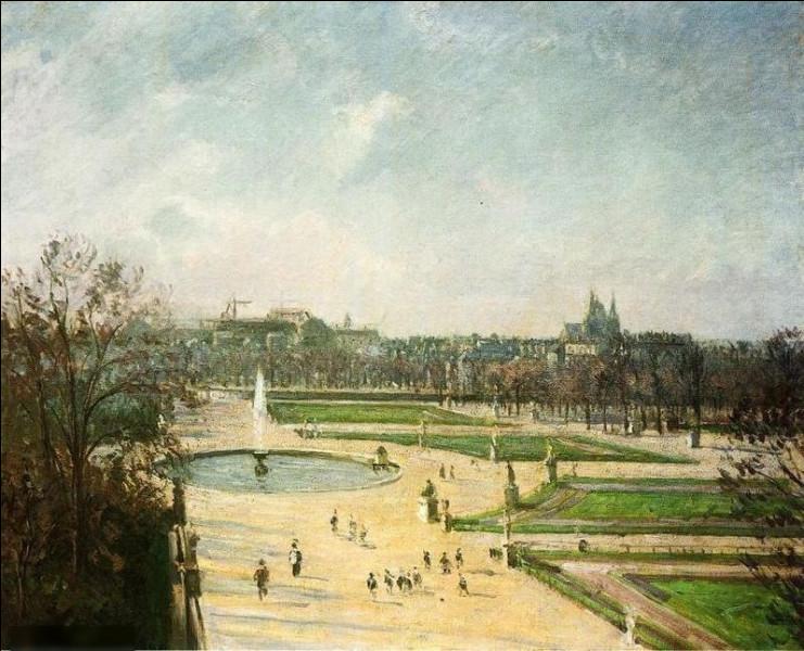 """Qui a peint """"Jardin des Tuileries, soleil d'après-midi"""" ?"""