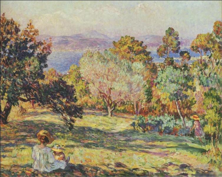 """Quel peintre est l'auteur du tableau """"Après-midi d'été à Fréjus"""" ?"""