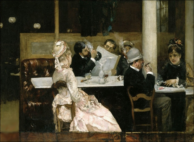 """Quel peintre est l'auteur du tableau """"Scène de café à Paris"""" ?"""