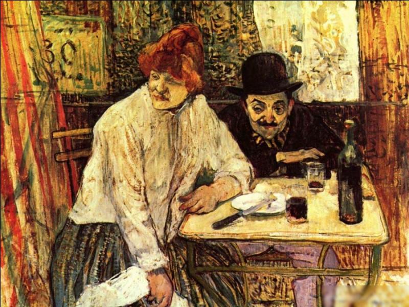 """Quel peintre est l'auteur du tableau """"Au café La Mie"""" ?"""