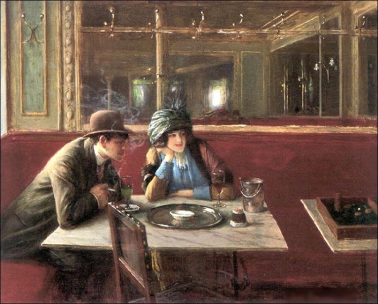 """""""Au café"""" est un tableau de quel peintre ?"""