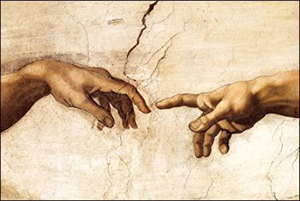 """Laquelle des deux mains tend Adam dans """"La Création"""" de Michel-Ange ?"""