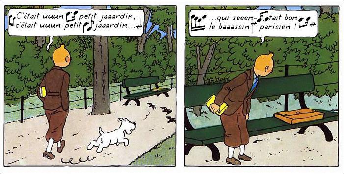 Et nous retrouvons Tintin dans un répertoire populaire, quoi que déjà d'hier...