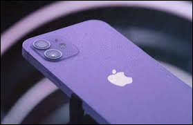 Quelle est la marque de ce téléphone portable de couleur violette ?