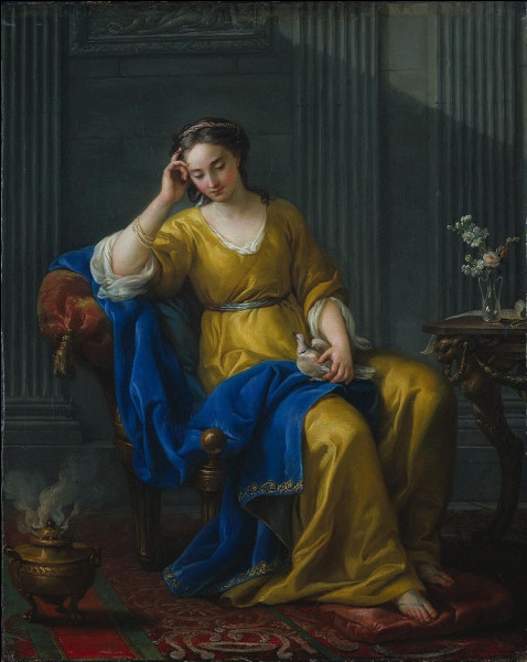 """Quel peintre français du XVIIIe est l'auteur du tableau """"Douce mélancolie"""" ?"""