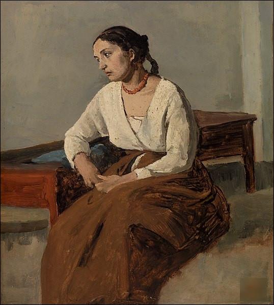 """Quel peintre est l'auteur du tableau """"Mélancolie, femme italienne"""" ?"""
