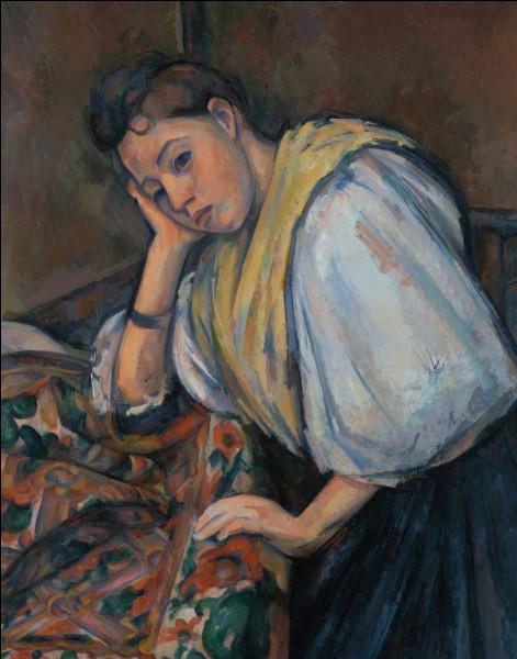 """Quel peintre est l'auteur du tableau """"Femme accoudée mélancolique"""" ?"""