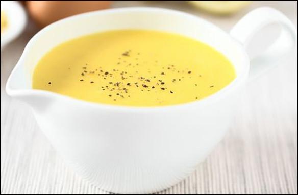 Quelle est cette sauce, une émulsion chaude de beurre, de jaunes d'oeuf, de jus de citron ou de vinaigre ?