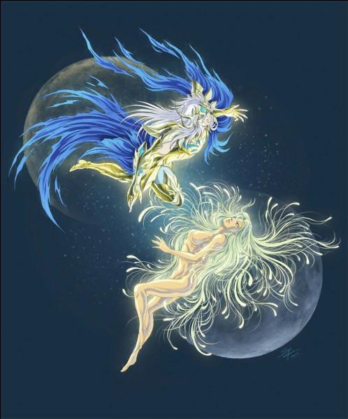 Dans l'univers étendu, quelle divinité partageait une relation amoureuse avec Tithonos, Chevalier d'Or originel du Cancer ?