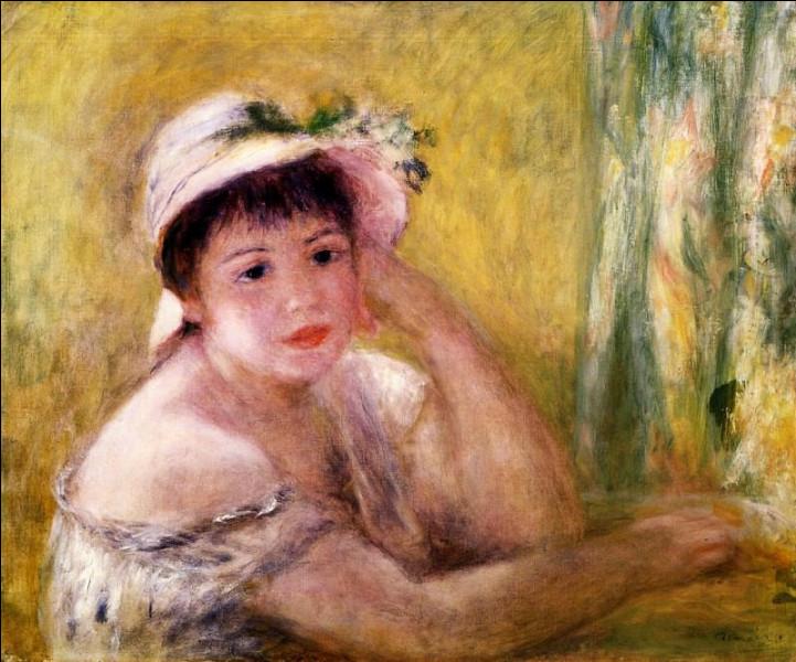 """Quelle modèle de Renoir peut-on apercevoir sur le tableau """"Femme au chapeau de paille"""" ?"""