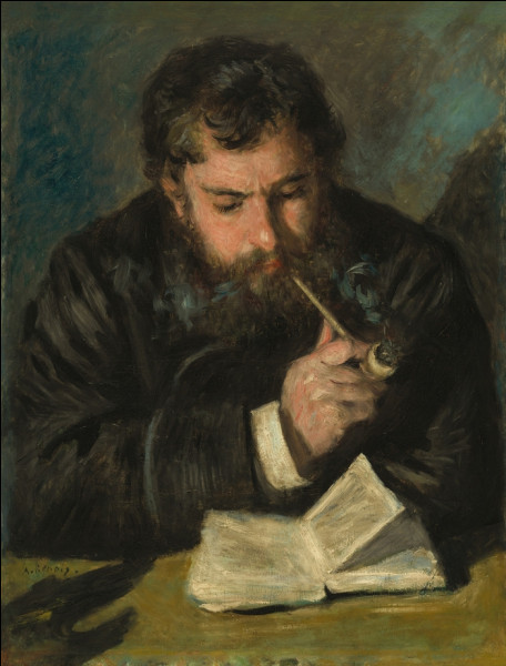 Ce quiz s'intéressera aux tableaux impressionnistes de Renoir (Années 1870), sans tenir compte de l'ordre chronologique. De quel autre peintre impressionniste a-t-il réalisé le portrait ici ?