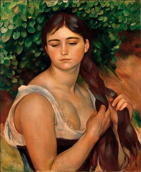 """Quelle modèle de Renoir pouvons-nous apercevoir sur le tableau intitulé """"La Natte"""" ?"""
