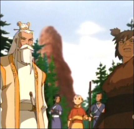 Aang et ses amis traversent un grand canyon en compagnie de :