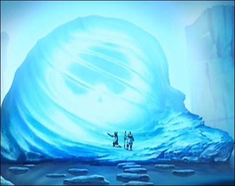 Katara et son frère Sokka trouvent l'avatar Aang prisonier d'un iceberg au pôle sud.