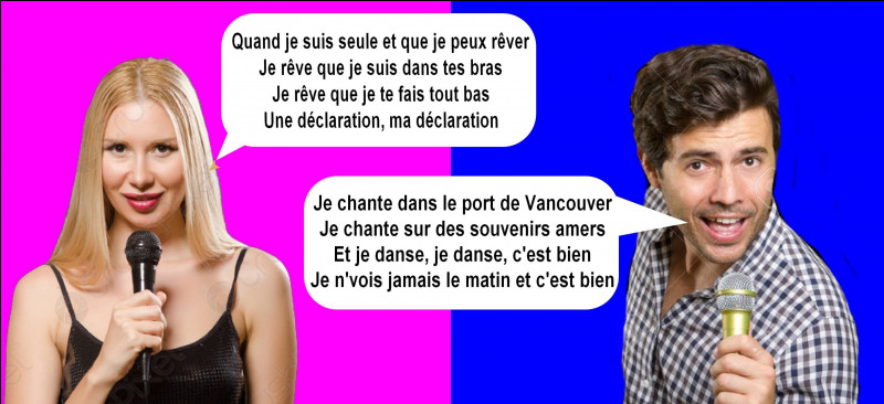 Qui chante une chanson de France Gall ?