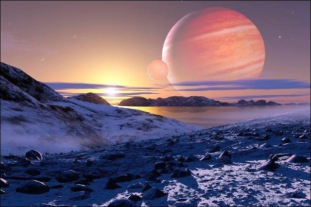 Sachant que Jupiter est une planète géante gazeuse et que la densité de la Terre est de 5,51 g/cm3, quelle est la densité de Jupiter ?