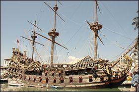 """Cette relique a été construit en 1986 pour le film """"Pirates"""" de Roman Polanski."""