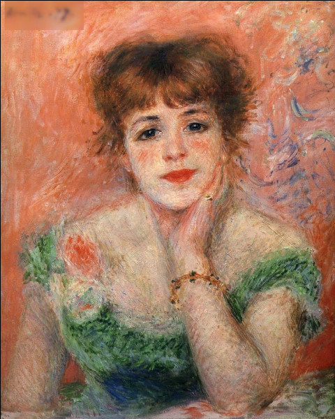 """Qui a peint """"La Rêverie (Portrait de l'actrice Jeanne Samary)"""" ?"""