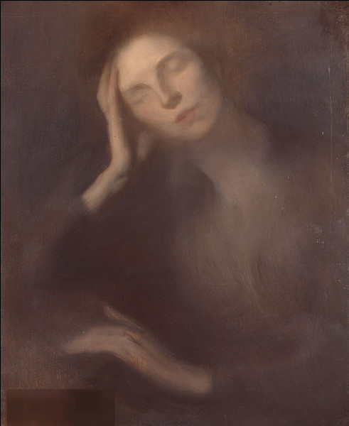 """Quel peintre est l'auteur du tableau """"Femme accoudée à la table"""" ?"""