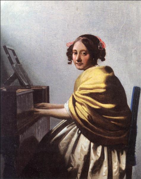 """Quel peintre hollandais du XVIIe a réalisé """"Dame assise au virginal"""" ?"""