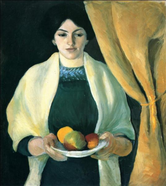 """""""Portrait avec pommes"""" est un tableau de quel expressionniste allemand ?"""