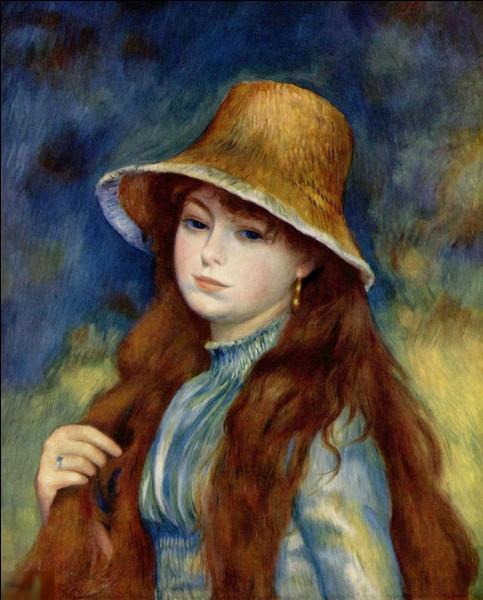 """Qui a réalisé """"Jeune fille au chapeau de paille"""" ?"""