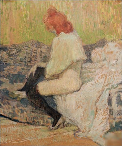 """Quel peintre est l'auteur du tableau """"Femme rousse"""" ?"""