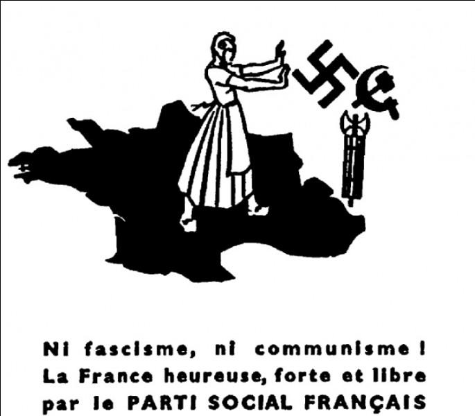 Comment se nomme le journal interne du Parti social français, parti nationaliste fondé à la suite de la dissolution des Croix-de-Feu ?