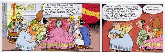 Mais que vient faire ici Apollon, à part ramasser des offrandes des Romains ?