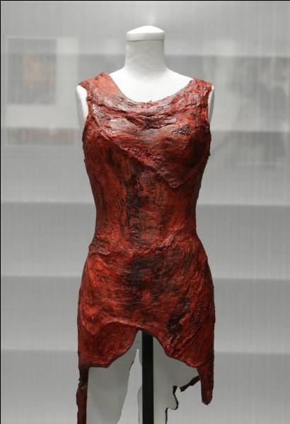 Quelle chanteuse a fait scandale en portant une robe faite de morceaux de viande ?