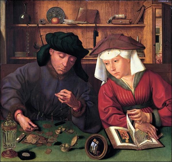 """Quel peintre primitif flamand de la Renaissance est l'auteur du tableau """"Le Prêteur et sa femme"""" ?"""