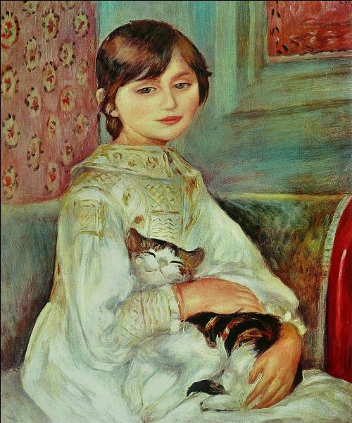 """Quel peintre français du XIXe est l'auteur du tableau """"Julie Manet ou l'enfant au chat"""" ?"""