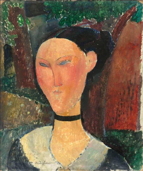 """Qui est l'auteur de la toile """"Femme au ruban de velours"""" ?"""