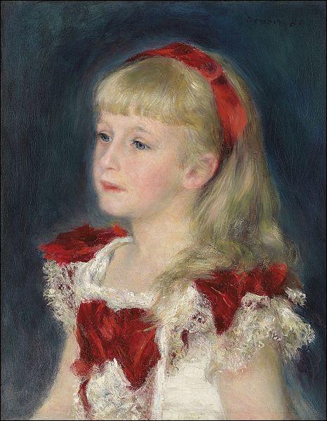 """Qui a représenté """"Mademoiselle Grimpel au ruban rouge"""" ?"""