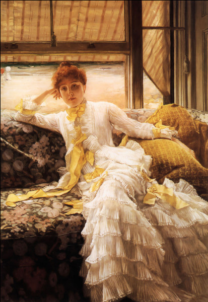 """Que de beaux rubans sur cette toile intitulée """"Bord de mer"""" ! Qui en est l'auteur ?"""