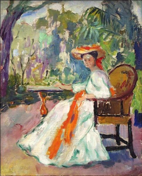 """Sa toile s'intitule """"Jeanne au ruban orange"""" :"""