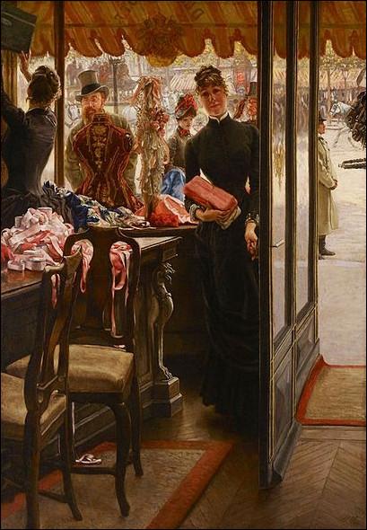 Voici une boutique remplie de rubans ! Qui est l'auteur de cette toile ?