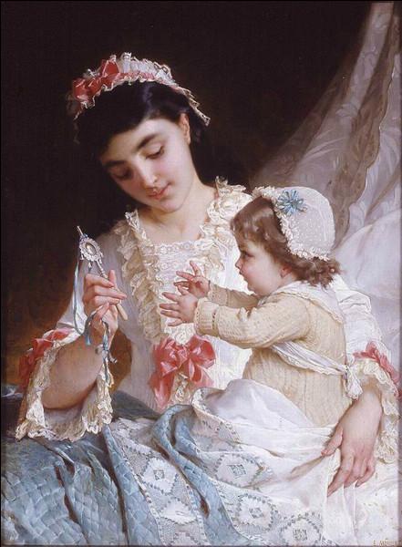 """De bien beaux rubans enjolivent cette """"Dame aux roses"""", qui en est l'artiste ?"""