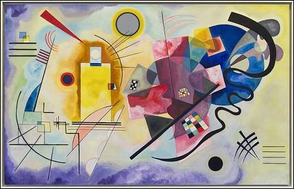 """Quel artiste a réalisé """"Jaune-rouge-bleu"""" en 1925 ?"""