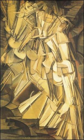 """Sans doute influencé par le cinéma naissant, qui est le peintre de ce """"Nu descendant un escalier"""" réalisé en 1912 ?"""