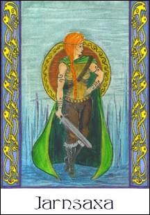 Járnsaxa est l'amante d'un célèbre dieu. Lequel ?